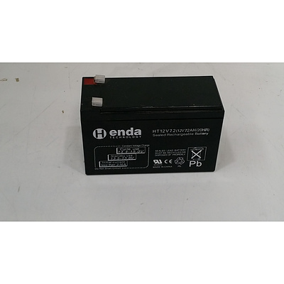 Henda technology, Sealed Rechargeable Battery, HT12V7.2AH