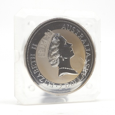 1992 $2 Australian .999 Silver Kookaburra 2 oz Coin