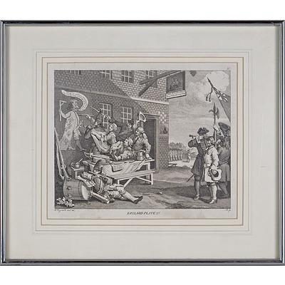 William Hogarth (British 1697-1764) Engraving