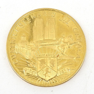 1967 Venezuelan .900 Gold Commemorative Medal