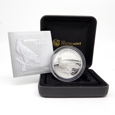 2016 $8 Australian .999 Silver Wedge-Tailed Eagle 5 oz Proof Coin