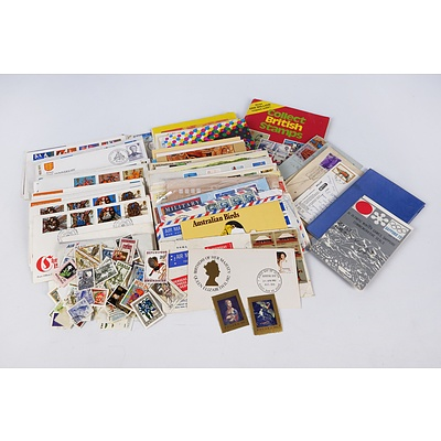 Quantity of Australian and International First Day Covers, Stamps Folders and Stamps on Envelopes