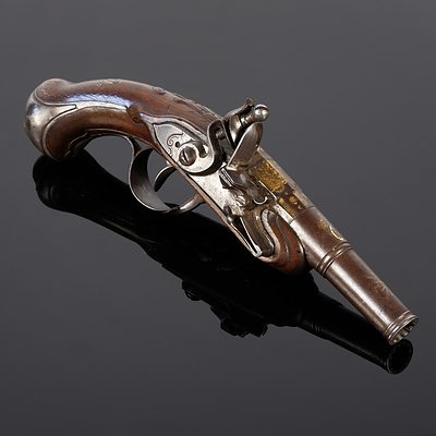 19th Century French Black Powder Muzzle Loading Pistol