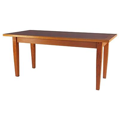 Antique Style Solid Timber Dining Table, Later 20th Century