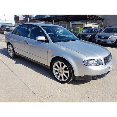 1/2003 Audi A4 2.0 B6 4d Sedan Silver 2.0L