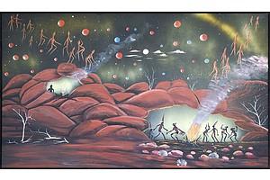 Daniel Goodwin (b. 1947)  Wanduma 2006, Oil on Canvas