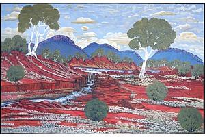 Daniel Goodwin (b. 1947) Harts Range After Rain 2005, Oil on Canvas