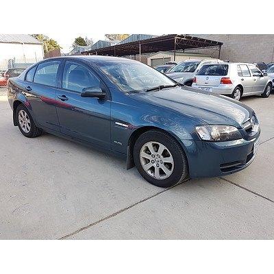 2/2010 Holden Commodore Omega (d/fuel) VE MY10 4d Sedan Blue 3.6L