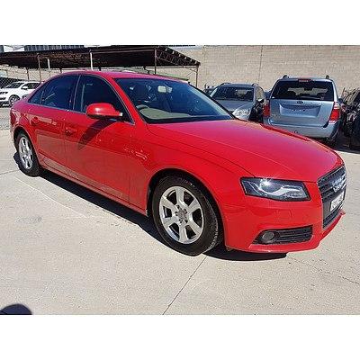 12/2009 Audi A4 2.0 TDI B8 (8K) 4d Sedan Red 2.0L