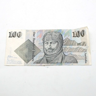 Australian $100 Fraser/ Johnston Note, ZCF415036