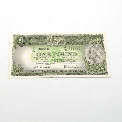 Commonwealth of Australia Coombs/ Wilson One Pound Note, HF30788440