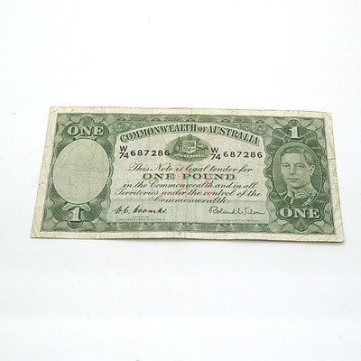 Commonwealth of Australia Coombs/Wilson One Pound Note W74687286