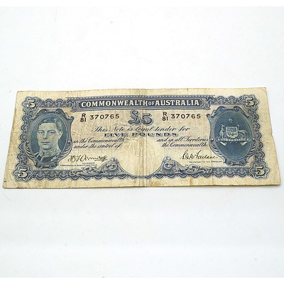 Commonwealth of Australia Armitage/McFarlane Five Pound Note R81370765