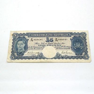 Commonwealth of Australia Armitage/McFarlane Five Pound Note R76498641