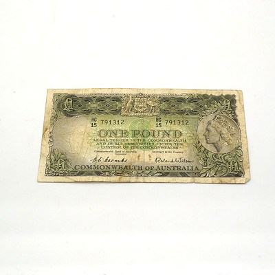Australian Coombs/ Wilson One Pound Note HC15791312
