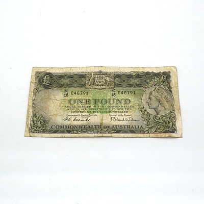 Australian Coombs/ Wilson One Pound Note HC18046791