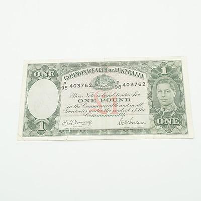 Commonwealth of Australia Armitage / McFarlane One Pound Note, P98 403762