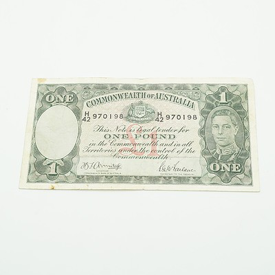 Commonwealth of Australia Armitage / McFarlane One Pound Note, H42 970198
