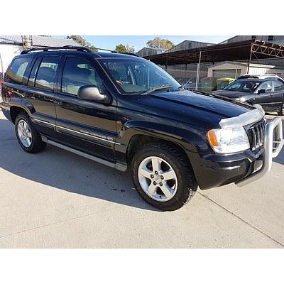 10/2003 Jeep Grand Cherokee Overland (4x4) WG 4d Wagon Black 4.7L