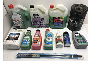 Assorted Radiator Coolant and Other Auto Products