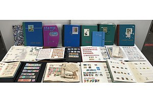 Large Collection Of Stamp Albums