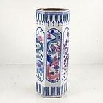 Chinese Ceramic Textured Umbrella Stand
