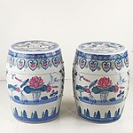 Pair Chinese Porcelain Stools