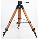Vintage Wooden Camera Tripod