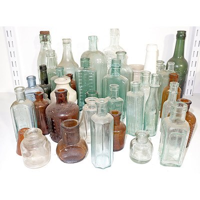 Large Collection of Old Bottles