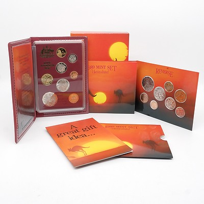 1989 Eight Coin Proof Set and 1989 Eight Coin Uncirculated Set