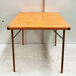 Retro Folding Wooden 4 Seat Table