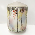 Art Deco Style Hand Painted Glass Light Shade
