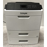 Lexmark MS812dn Black & White Laser Printer - Lot of Four
