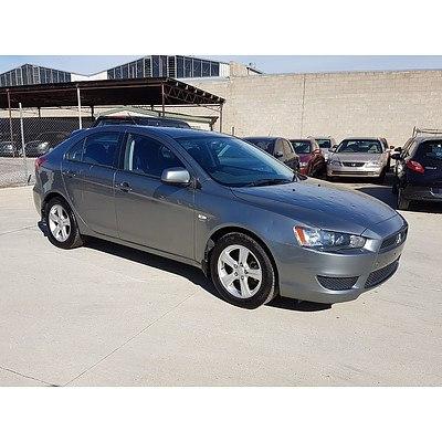 10/2011 Mitsubishi Lancer ES Sportback CJ MY11 5d Hatchback Grey 2.0L