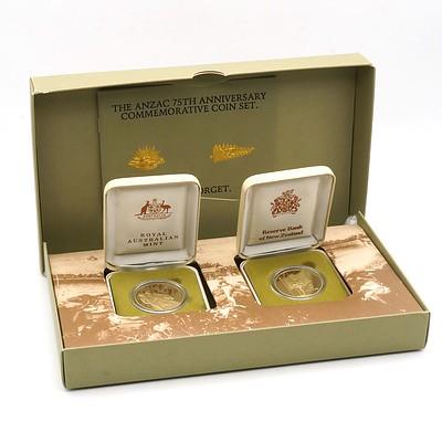 The ANZAC 75th Anniversary Commemorative Coin Set