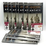 Ten 2017 25c Victoria Cross Legend of ANZAC Carded Coin & Folder