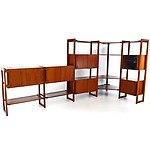 Catt Furniture WA Jarrah Modular Corner Bookcase Circa 1970s