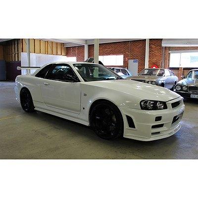 3/1999 Nissan Skyline R34 GT-R 2d Coupe White 2.6L
