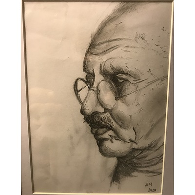 "Drawing: ""Gandhi"" by Alice Harcourt"