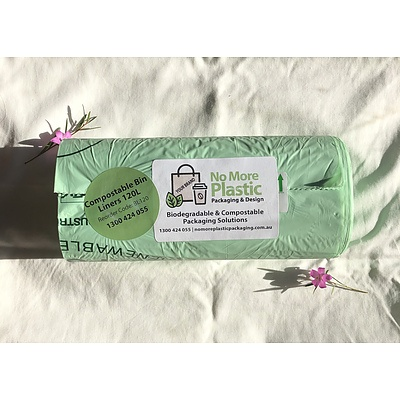 Roll of 25 Compostable Bin Liners 120L