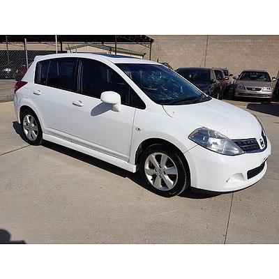 3/2010 Nissan Tiida Ti C11 SERIES 3 MY10 5d Hatchback White 1.8L