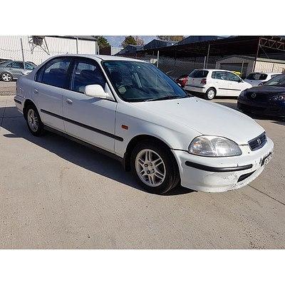 7/1996 Honda Civic GLi  4d Sedan White 1.6L