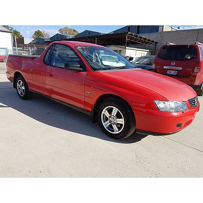 10/2002 Holden Commodore  VY Utility Red 3.8L
