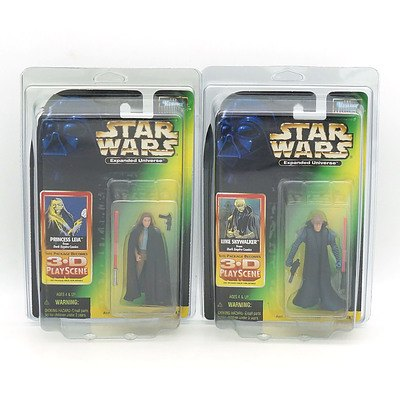 Kenner 1998 Star Wars Expanded Universe Princess Leia and Luke Skywalker, New Old Stock
