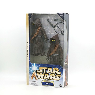 Hasbro 2003 Star Wars A New Hope Tatooine Scavengers Jawas, New Old Stock