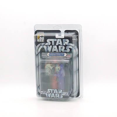 Hasbro 2005 Star Wars Holographic Princess Leia, Comic Con San Diego 2005, New Old Stock