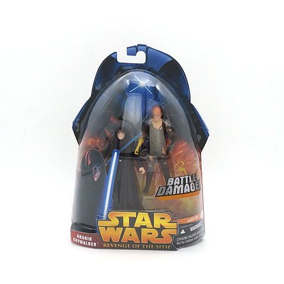 Hasbro 2005 Star Wars Revenge of the Sith Anakin Skywalker Battle Damage, New Old Stock