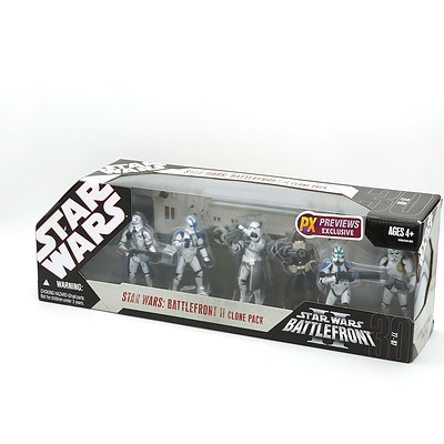 Hasbro 2007 Star Wars Battlefront II Clone Pack, New Old Stock