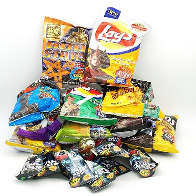 Group of Star Wars Promotional Confectionary Products, Including Lays, Chupa Chups and More