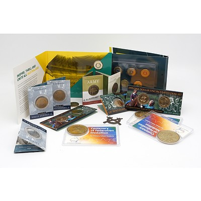 Group of Uncirculated Coins, Including 2016 Australian Olympic Team Coloured Coin Collection and More